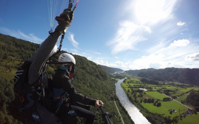 Premier vol biplace au pays des Fjords