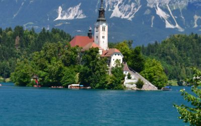 Marvel at the landscape of postcard of Bled