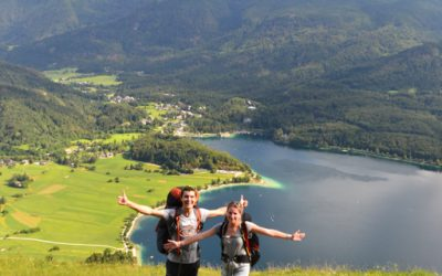 Hike and fly and swim in Bohinj