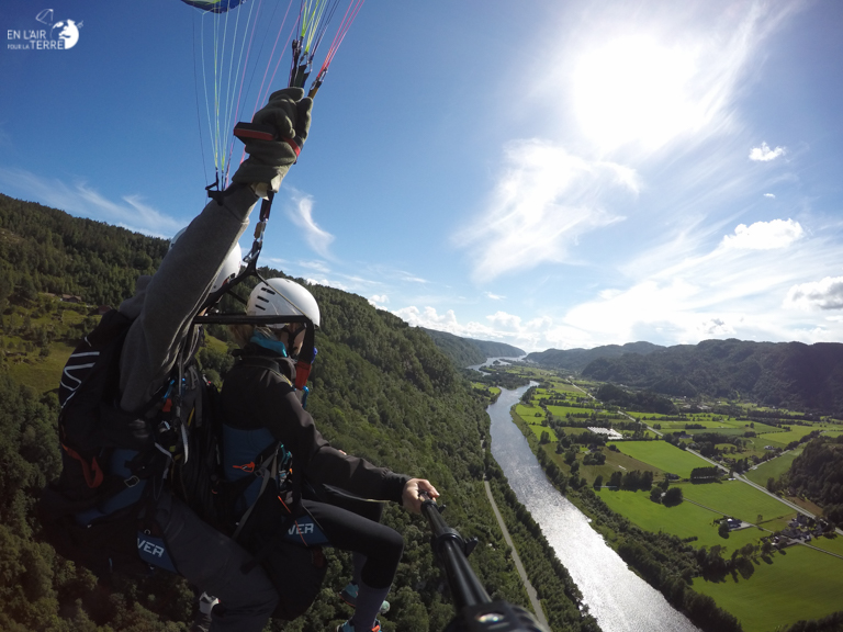 First tandem flight in the land of the Fjords