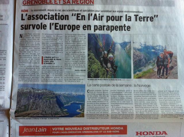 Départ pour le tour d'Europe avec le Dauphiné Libéré